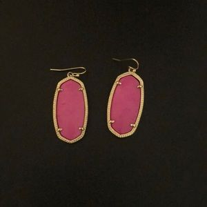 Kendra Scott pink and gold earrings 1.5 inch